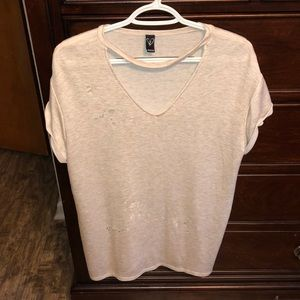 Oversized Distressed Shirt